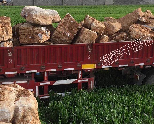 盐城假山石3000吨3天就发完了